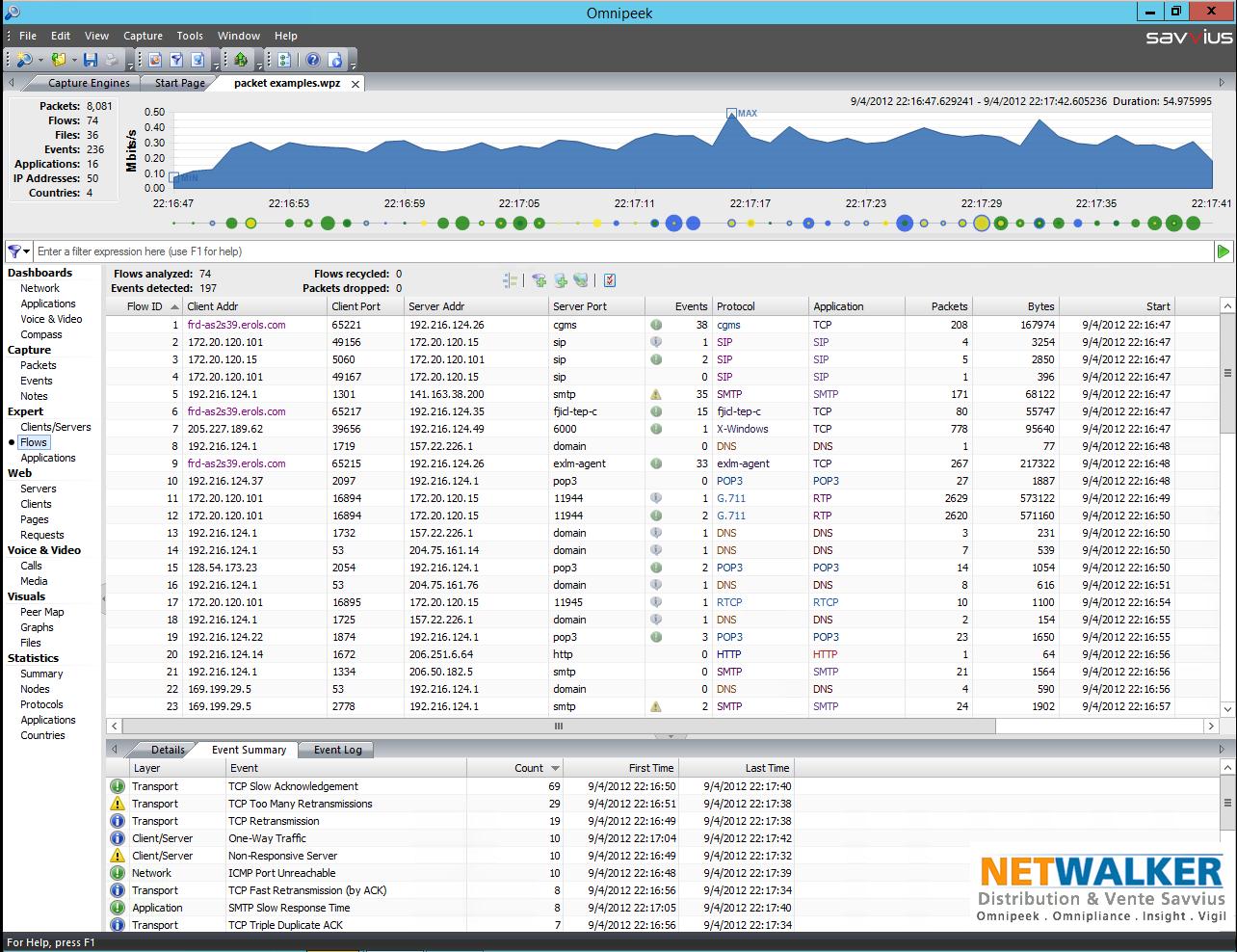 Le Système expert identifie un grand nombre de problèmes réseau