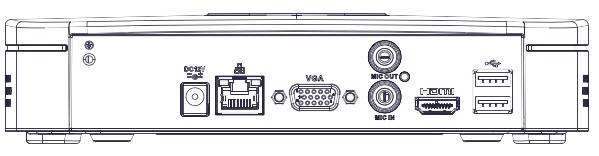 Ports disponibles en face arrière du NVR NVR4104-4KS