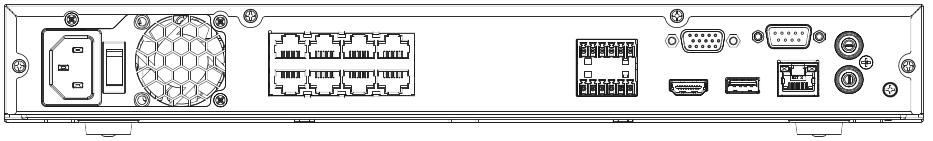 Connectique du NVR Dahua NVR5208-8P-4KS2