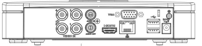 Ports disponibles sur le NVR XVR4104C-X