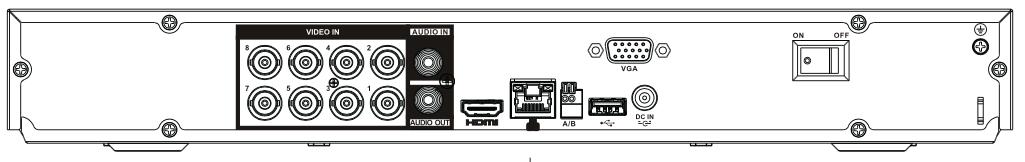 Face arrière du NVR XVR5208AN-4KL-X Dahua