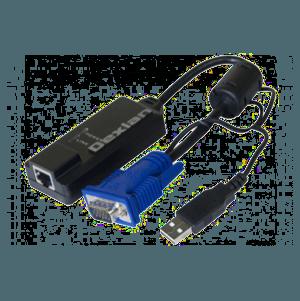 KVM de bureau avec 8 modules founis