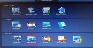 Configuration du ddns dans l'îcone réseau de la caméra Dahua