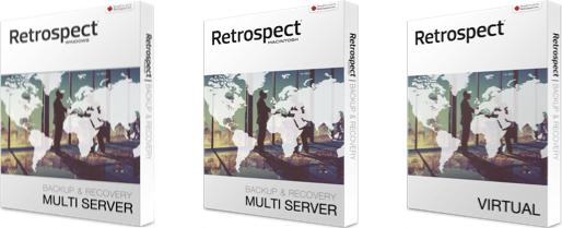 Les licences Retrospect sont disponibles pour serveur Windows, serveur MacOS et environnement virtuels